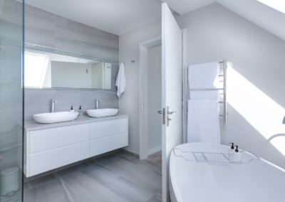 White bathroom concept design by Bathroom Culture | Phuket bathroom installation service